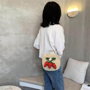 Popular new style hand bag shoulder bag fashion slung straw bag NHTC205646's discount tags