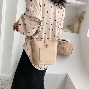 Bolso pequeño de primavera de las nuevas mujeres de la moda retro del bolso del cubo del bolso del mensajero del hombro NHTC205657's discount tags