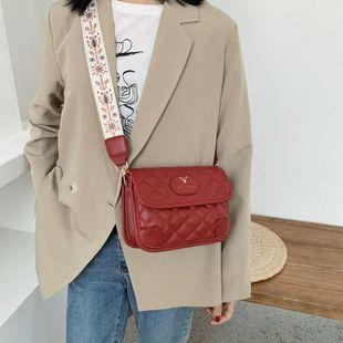 New Bag Lingge Fashion Wide Shoulder Strap Messenger Bag Women Shoulder Bag NHTC205660's discount tags