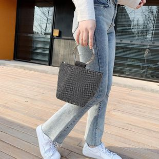 Small bags women's new Korean casual bags handbags retro chain messenger bags women NHTC205667's discount tags