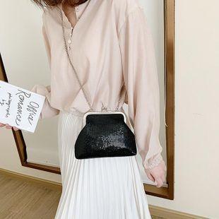 Small bags women's new Korean messenger bag fashion chain shoulder bag clip phone bag NHTC205668's discount tags