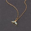 Collier de dauphin en queue de poisson de mode Simple Micro incrust de zircon pendentif chane de clavicule Article NHPY199737