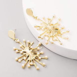 Aretes exagerados mujer S925 aguja de plata pendientes de perlas estrelladas pendientes largos de flores NHLN199763's discount tags