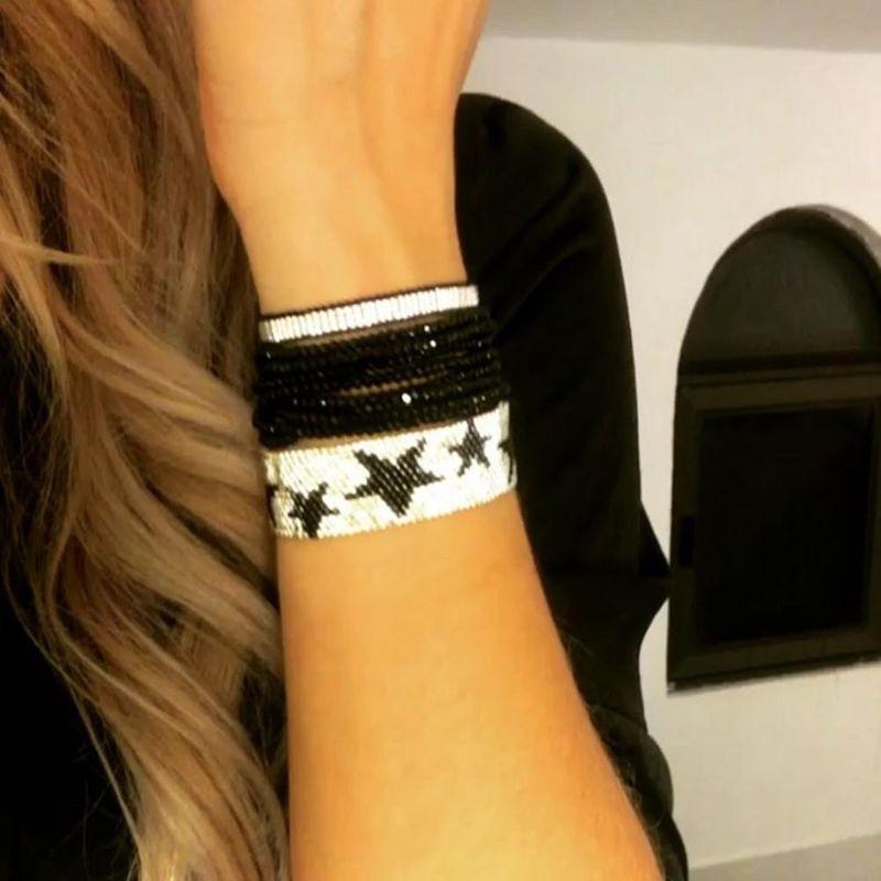 Bohemia Crystal Jewelry Miyuki Bead Hand Woven Wide Pentagram Female Bracelet NHGW199770
