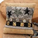Miyuki bead woven pentagram tassels pattern with studs and diamonds bracelet jewelry NHGW199777