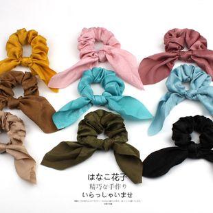 Fashion New satin solid color bow extra large intestine headband ponytail fabric headband headdress NHOF199787's discount tags