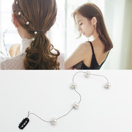 New Beaded Hair Clip Invisible Hair Clip Pearl Beaded Clip Sweet Sweet Hair Accessories NHOF199788's discount tags