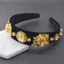 Vintage Wide Edge Gold Hair Band Hair Accessories Hair Clips Fashion Headwear Wholesale NHNT199798