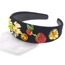 Wide Exaggerated Dark Red Flower Headband Simple Fabric Headband Fashion Jewelry Wholesale NHNT199803