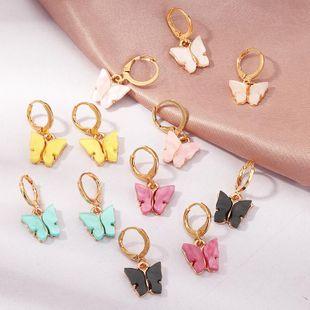 Jewelry fashion pop color acrylic butterfly earrings butterfly earrings women NHNZ199809's discount tags
