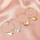 Jewelry fashion pop color acrylic butterfly earrings butterfly earrings women NHNZ199809