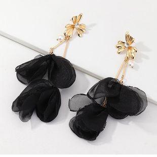 Joyas pendientes de flores de tela de moda pendientes largos de perlas mujeres al por mayor NHNZ199813's discount tags