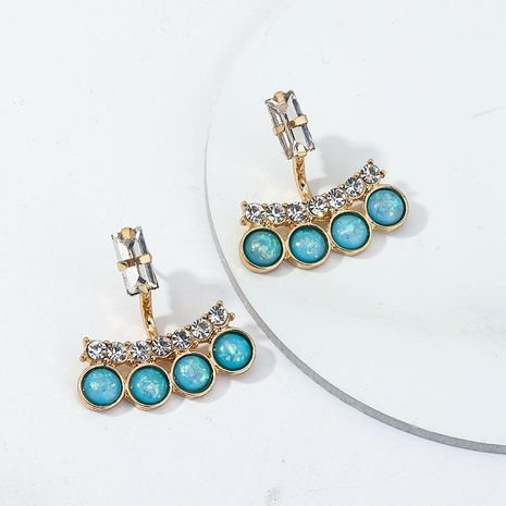 Jewelry Fashion Vintage Blue Turquoise Ear Studs Crystal Earrings NHNZ199817's discount tags