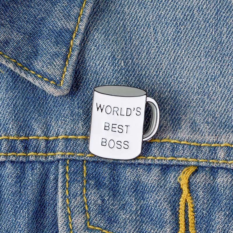 Cup enamel badge coffee cup brooch alloy drip oil brooch NHBO199821