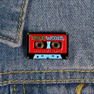 Cinta de esmalte retro pin forma de cinta broche nostálgico mochila estudiante de dibujos animados joyería NHBO199825's discount tags