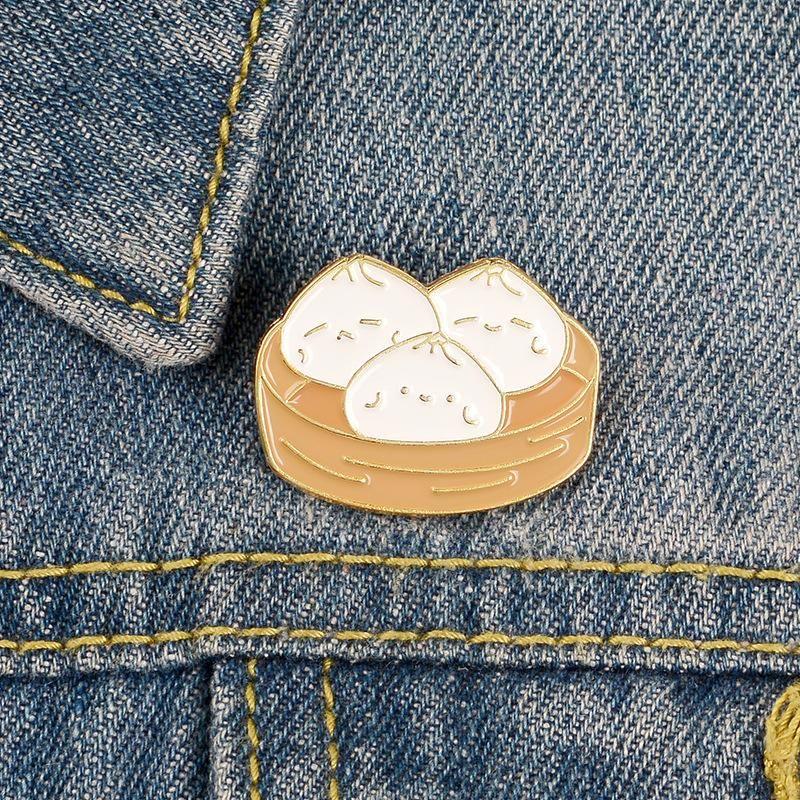 New creative cage drawer bun brooch cute cartoon student backpack badge alloy enamel brooch NHBO199831
