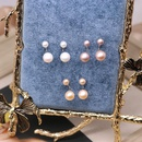 Fashion Natural Pearl S925 Sterling Silver Pearl Ball Studs Hypoallergenic Earrings NHOM199851