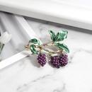 Korean wild fruit jewelry fashion dripping grape brooch new women39s brooch pin NHDR199858