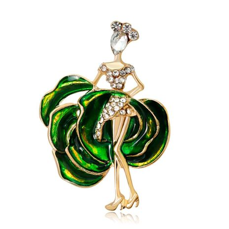 Korean high-end popular brooch fashion dancing girl alloy drip oil lady corsage NHDR199860's discount tags