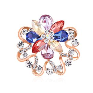 Scarf buckle high-end diamond color brooch wholesale NHDR199861's discount tags
