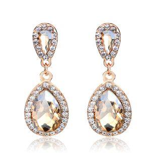 Joyas coreanas nuevos pendientes de novia largos de diamantes de imitación súper flash gota de agua NHDR199864's discount tags