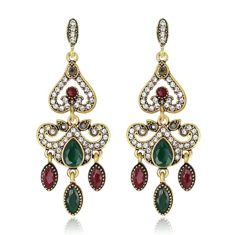 Court vintage long earrings noble and elegant original tassel earrings NHDR199866