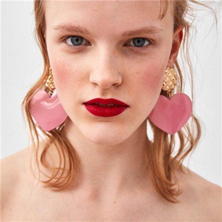 Fashion exaggerated three-dimensional love earrings earrings new alloy earrings women NHYT199870