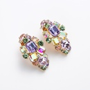New geometric square earrings large round glass diamond earrings women NHYT199882