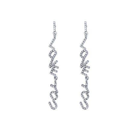 Fashion earrings wholesale full diamond long earrings NHYT199886's discount tags