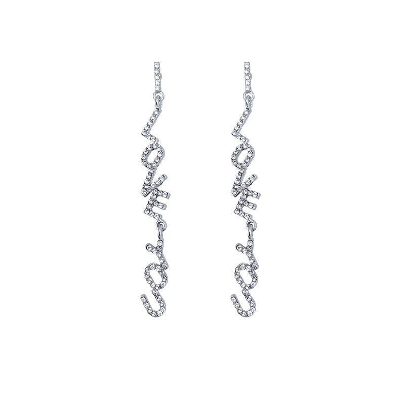 Fashion earrings wholesale full diamond long earrings NHYT199886
