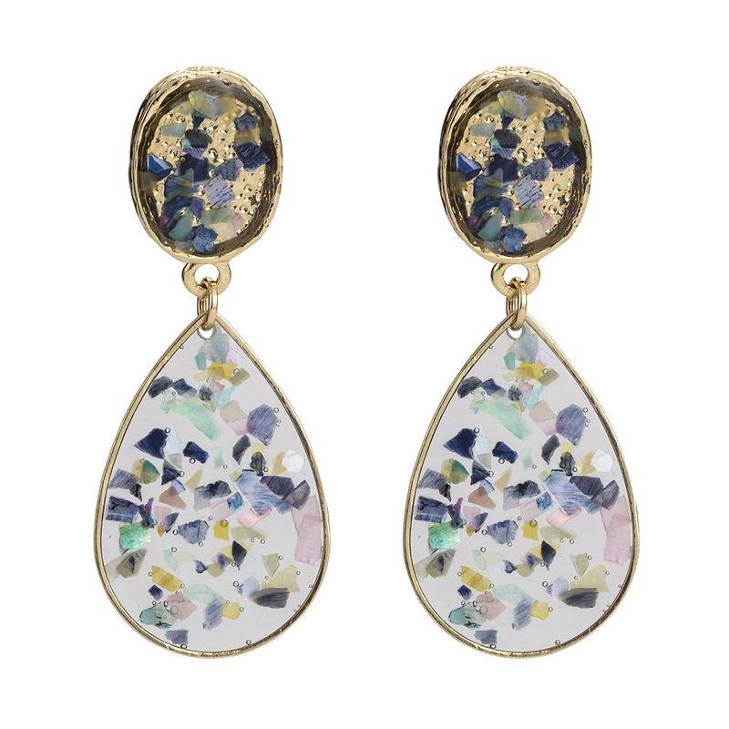 Colorful oil drop earrings fashion creative earrings water drop earrings NHYT199887