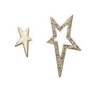 Fashionl Jewelry Irregular Diamond Pentagram Earrings Pendientes huecos simples de moda NHYT199893's discount tags
