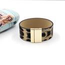 New fashion jewelry leopard PU wide leather bracelet personality bracelet accessories NHHM199898