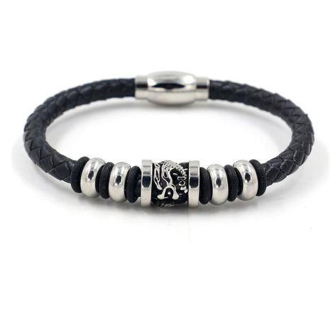 Nouveaux accessoires Bracelet en cuir punk à boucle magnétique tissé en cuir punk pour hommes NHHM199903's discount tags