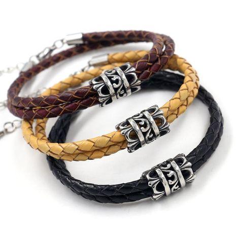 Bracelet Homme Titane Acier Corde Tressée Bracelet Accessoires De Mode NHHM199904's discount tags