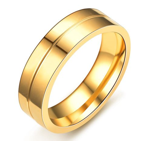 6mm titanium steel couple ring ring 18k gold ring diamond jewelry NHIM199924's discount tags