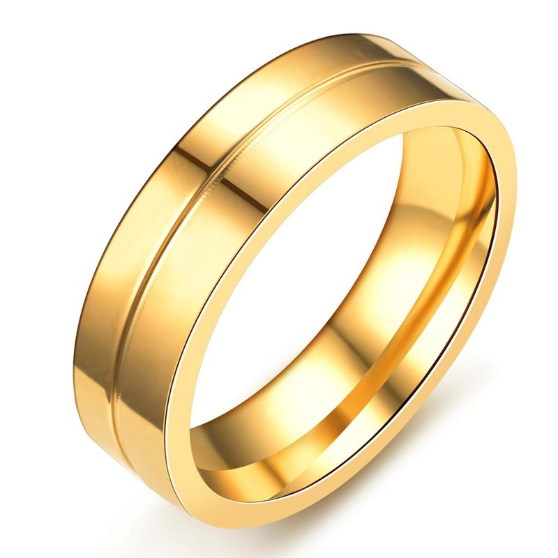 6mm titanium steel couple ring ring 18k gold ring diamond jewelry NHIM199924