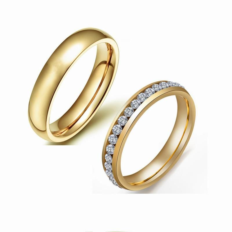 4MM stainless steel ring clip diamond ring luxury ring simple fashion ring NHIM199930