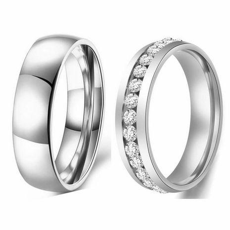 316L Simple Titanium Steel Smooth Simple Couple Ring 6mm Ring Spot Jewelry Wholesale NHIM199932's discount tags