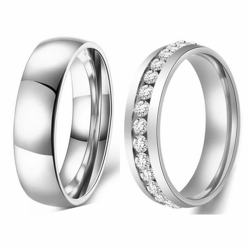 316L Simple Titanium Steel Smooth Simple Couple Ring 6mm Ring Spot Jewelry Wholesale NHIM199932