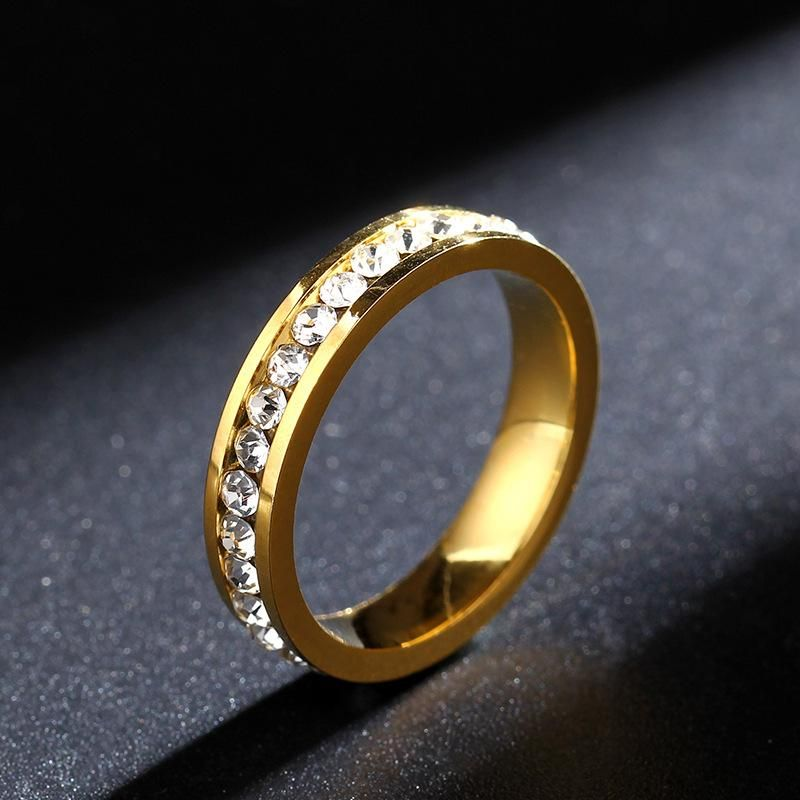 4MM stainless steel ring clip diamond ring luxury ring simple fashion ring NHIM199935