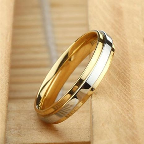 Explosion model 4mm ring titanium steel ring men and women ring tungsten steel ring NHIM199939's discount tags