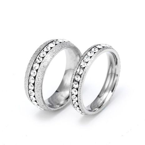 4mm 6mm Classic Wild Ring Pearl Sand Titanium Steel Couple Ring NHIM199958's discount tags