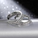 4mm 6mm Classic Wild Ring Pearl Sand Titanium Steel Couple Ring NHIM199958