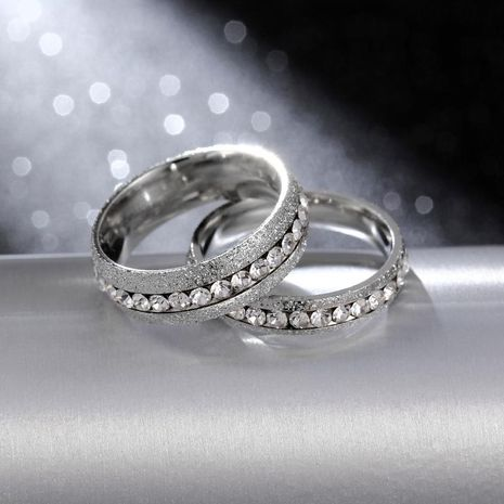 4mm 6mm Classic Wild Ring Pearl Sand Titanium Steel Couple Ring NHIM199960's discount tags