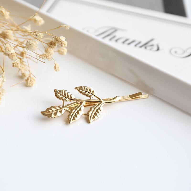 Fashion tree leaf hair clip hair accessories word clip fringe clip NHOF199790