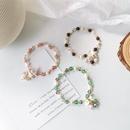 Korean Sweet Crystal Pearl Shell Flower Single Loop Bracelet Simple Bracelet Wholesale NHMS205757