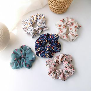 New sweet small floral fabric hair rope Korean literature and art retro style nostalgic cheap hair accessories wholesale NHMS205762's discount tags