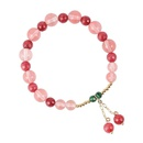 Sweet green single circle fringed cherry bracelet simple bracelet wholesale NHMS205763