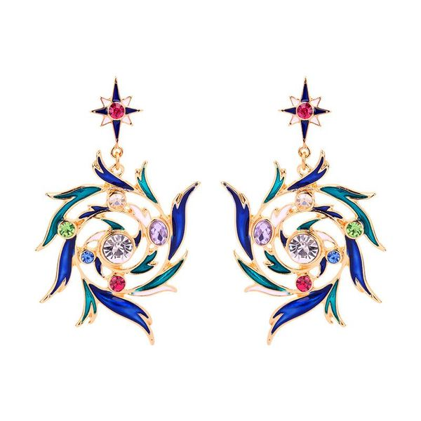 Earrings female drip oil creative earring fashion wild earrings NHQD205787